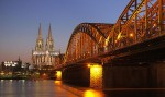 Hohenzollernbrücke in Cologne, Germany