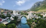 Mostar Old Town Panorama
